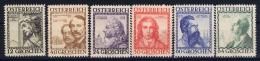 Austria Mi nr  591 - 596 MH/* Falz.  1934