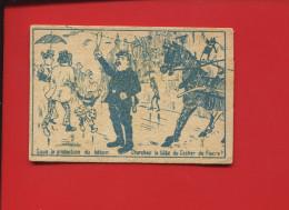 LESSIVE POULET CHROMO IMAGE DEVINETTE POLICIER COCHER  BATON TETE COCHER FIACRE - Chromos