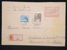 HONGRIE - Entier Postal Pour L ' Italie En 1956 - A Voir - Lot P12430 - Entiers Postaux