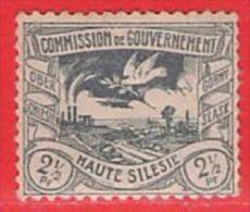 MiNr.13 X (Falz) Deutschland Deutsche Abstimmungsgebiete Oberschlesien - Settori Di Coordinazione
