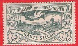 MiNr.24 X (Falz) Deutschland Deutsche Abstimmungsgebiete Oberschlesien - Settori Di Coordinazione