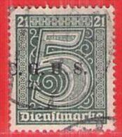 MiNr.1 D O Deutschland Deutsche Abstimmungsgebiete Oberschlesien Dienstpost - Duitsland