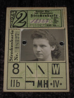 WW2 1943 STRECKENKARTE Gemeinde Wien Stadt - Strassenbahnen - Carte De Tram - Timbre - TTBE - Germany Osterreich - Documents