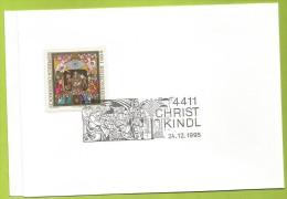 Autriche 1994 1973 CS Noël Icône Moderne Anton Wollenek La Naissance Du Christ Vœux Poste Autrichienne - Christmas