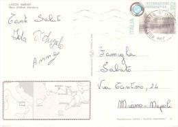 £120 INFORMAZIONE FOTOGRAFICA SU CARTOLINA LACCO AMENO BAIA DI SAN MONTANO - 6. 1946-.. Repubblica