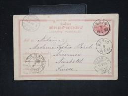 SUEDE - Entier Postal De Wexio Pour La Suisse En 1883 - A Voir - Lot P12447