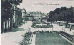 Cpa  BORDEAUX TERRASSE DU JARDIN PUBLIC - Bordeaux