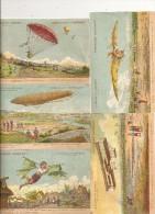 10 Images Publicitaires Chocolat Lombartd Sur  La Navigation Aerienne - Advertising