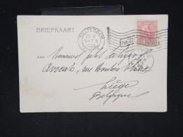 PAYS BAS - Obl. Mécanique De Rotterdam Sur Cp Pour La Belgique En 1906 - A Voir - Lot P12453 - Periode 1891-1948 (Wilhelmina)