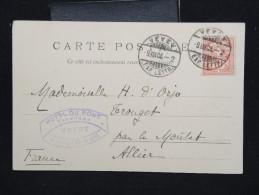 SUISSE - Obl. De Vevey Sur Carte Postale Pour La France En 1904 - A Voir - Lot P12455 - 1882-1906 Armarios, Helvetia De Pie & UPU