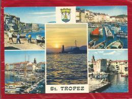 SAINT TROPEZ  - Dépt 83  -  Multivues - Blason - CPSM - - Saint-Tropez