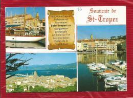 Souvenir De SAINT TROPEZ  - Dépt 83  -  Multivues - CPSM - - Saint-Tropez
