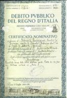 Documento Obbligazionario - Debito Pubblico Del Regno D'Italia / Prerstito Redimibile, - Azioni & Titoli