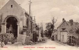 CONDE-sur-AISNE --Abbaye , Rue Principale - France