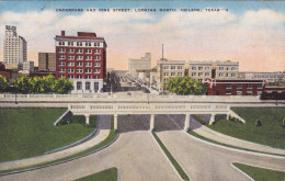 ABILENE, Texas; Underpass and Pine Street, Looking North, 30-40s