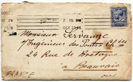 - Petite Enveloppe, Timbre, Lettre Tapée à La Machine, Récépissés. Envoyés De BRIXTON En 1916. - 1902-1951 (Rois)