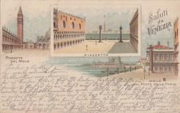 Litho Saluti Da Venezia Gelaufen 22.4.97 Nach Nürnberg - Venezia (Venedig)