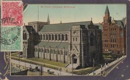 AK Melbourne St. Paul's Cathedrale Gelaufen 13.12.21 Nach Deutschland - Melbourne