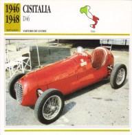 Cisitalia D46 (Course)  -  1946 -  Fiche Technique Automobile (Italie) - Voitures