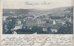 AK Greiz Blick Vom Schloßberg S/w Gelaufen 2.5.01 - Greiz
