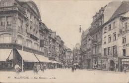 Ak Mulhouse Rue Merciere S/w Gelaufen - Elsass