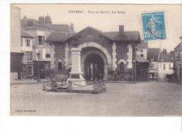 25226 DOURDAN - Place Du Marché - Les Halles -ed Dourdanaise -enfants - Dourdan