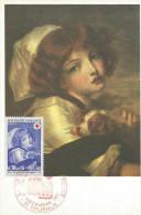CARTE MAXIMUM (MAXIMUM CARD) 1971 CROIX ROUGE - JEUNE FILLE AU PETIT CHIEN - Maximumkarten