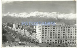 22312 CHILE SANTIAGO AVENIDA B. O'HIGGINS & TRAMWAY TRANVIA POSTAL POSTCARD - Chile