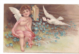 25228 Fantaisie, Lettre Telephone, Pigeon Colombe Ange -relief - Ed ? - Fantaisies