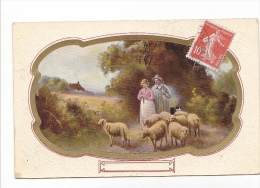 25230 Fantaisie, Berger Bergere Peinture Mouton -- Ed Arno Artchrom 4086 Saxony - Elevage