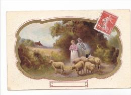 25230 Fantaisie, Berger Bergere Peinture Mouton -- Ed Arno Artchrom 4086 Saxony