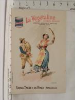 Chromo Publicitaire La Végétaline Rocca,Tassy&de Roux Marseille - Recette Oeufs En Matelote - ITALIE - Chromos