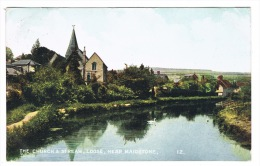 RB 1068 - 1907 Postcard - The Church & Stream - Loose Near Maidstone Kent - England