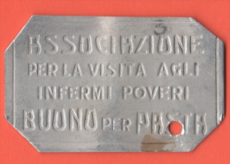 Gettoni Caritatevoli Anni 20/30  X Pasta - Monetary/Of Necessity