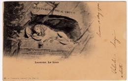LUCERNA - LUCERNE - LE LION - Primi '900 - Vedi Retro - Formato Piccolo - LU Lucerne