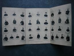 cpa/pk Assche Asse Militair - Vouwkaart 3delig - Gedenkenis onze gesneuvelde helden voordele oorlogswezen WO I 1914 -18