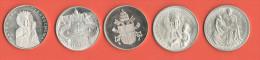 Papa Giovanni Paolo II Lotto 5 Medaglie - Gettoni E Medaglie