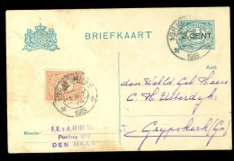 HANDGESCHREVEN BRIEFKAART Uit 1918 * Van DEN HAAG Naar GRIJPSKERK (10.010e) - Periode 1891-1948 (Wilhelmina)