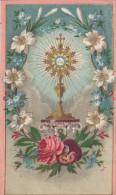 10121-INNO EUCARISTICO PER IL CONGRESSO DI CARPI-HOLY CARD-CROMOLITO-1928 - Santini