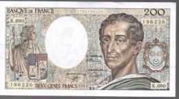 FRANCIA - FRANCE = 200 Francs 1991  P-155 - 1962-1997 ''Francs''
