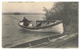Environs De CHIMAY - Lac De VIRELLES - Barque Avec Pêcheur - (Au Verso Publicité Théo DE GRAEVE Fabricant De Cartes Post - Chimay