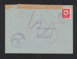 Dt. Reich Dienstbrief 1942 Doppelverwendung Freiburg Waldshut - Oficial