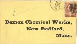 15602. Carta NEBASKA  1866 To New Bedfod.  Fancy Cancel - Cartas