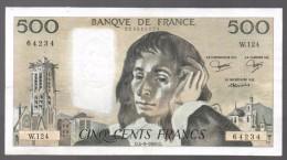 FRANCIA - FRANCE = 500 Francs 1980  P-156 - 1962-1997 ''Francs''