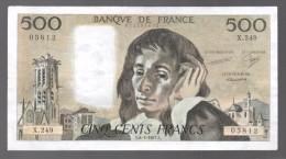 FRANCIA - FRANCE = 500 Francs 1987  P-156 - 1962-1997 ''Francs''
