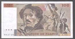 FRANCIA - FRANCE = 100 Francs 1990  P-154 - 1962-1997 ''Francs''