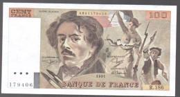 FRANCIA - FRANCE = 100 Francs 1991  P-154 - 1962-1997 ''Francs''