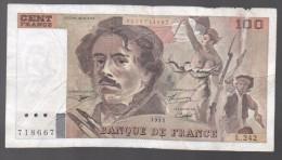 FRANCIA - FRANCE = 100 Francs 1993  P-154 - 1962-1997 ''Francs''