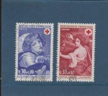 1700 & 1701 De 1971  -  Oblitération Cachet Rond  -  Croix-Rouge - Jeune Fille Au Petit Chien  &  L'Oiseau Mort - France