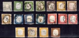 Sardaigne Belle Collection D'anciens Neufs Et Oblitérés Entre 1855 Et 1861. Bonnes Valeurs. A Saisir! - Sardegna